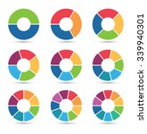 collection of circular diagrams ... | Shutterstock .eps vector #339940301