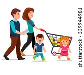family walking with shopping... | Shutterstock .eps vector #339944981