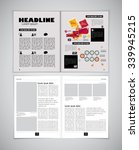 Newspaper template, vector | Shutterstock vector #339945215