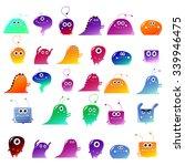 big vector set of cute ... | Shutterstock .eps vector #339946475