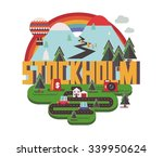 stockholm city is a beautiful... | Shutterstock .eps vector #339950624