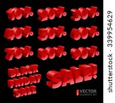 red bold font sale numbers and... | Shutterstock .eps vector #339954629