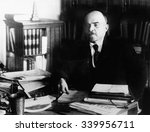 Vladimir Lenin  At His Desk...