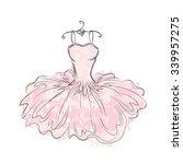 dress in the vector. hand... | Shutterstock .eps vector #339957275