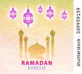traditional lantern of ramadan  ... | Shutterstock . vector #339959159