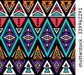 neon color tribal seamless... | Shutterstock .eps vector #339962291