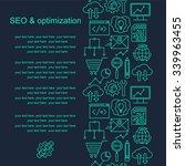 seo and development pattern...   Shutterstock .eps vector #339963455