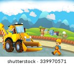 cartoon scene with construction ... | Shutterstock . vector #339970571