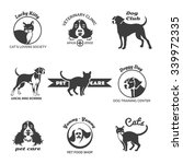 pet club logos | Shutterstock . vector #339972335