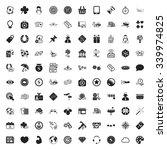 gambling 100 icons universal... | Shutterstock .eps vector #339974825