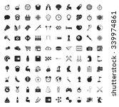 sport 100 icons set for web flat | Shutterstock .eps vector #339974861