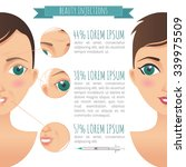 beauty injections infographic.... | Shutterstock .eps vector #339975509