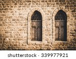 old brick wall with two windows ... | Shutterstock . vector #339977921