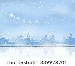 silhouette of snowing  winter... | Shutterstock .eps vector #339978701
