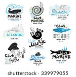 set of retro clubs and bars...   Shutterstock .eps vector #339979055