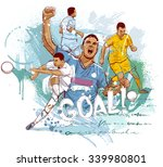 football goal | Shutterstock .eps vector #339980801