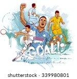 football goal | Shutterstock .eps vector #339980801