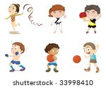 illustration of  a kids on white | Shutterstock .eps vector #33998410