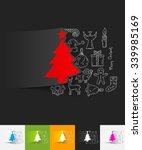 hand drawn simple elements with ... | Shutterstock .eps vector #339985169