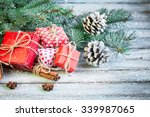 christmas decoration on... | Shutterstock . vector #339987065