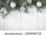 christmas decoration on... | Shutterstock . vector #339998735