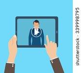 webinar  online conference ... | Shutterstock . vector #339998795