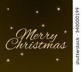 gift card for merry christmas... | Shutterstock .eps vector #340000199