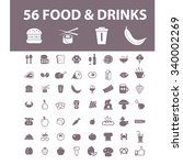food  drinks  grocery  icons ... | Shutterstock .eps vector #340002269