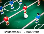 red and blue table soccer... | Shutterstock . vector #340006985