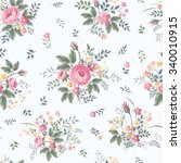 seamless floral pattern with... | Shutterstock .eps vector #340010915