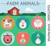 Farm Animals Icon Set....