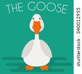 Goose Mascot Icon In Flat Styl...