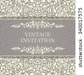 vintage invitation card... | Shutterstock .eps vector #340017575