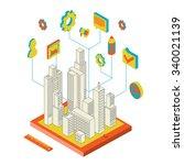 isometric illustration of... | Shutterstock . vector #340021139