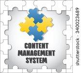 content management system. cms. ... | Shutterstock .eps vector #340023689