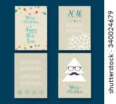 christmas card templates.... | Shutterstock .eps vector #340024679