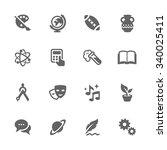 simple set of school subject... | Shutterstock .eps vector #340025411