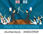 business team defend their...   Shutterstock .eps vector #340025969