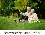 beautiful caucasian elderly...   Shutterstock . vector #340029701