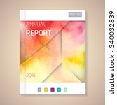 cover annual report numbers... | Shutterstock .eps vector #340032839