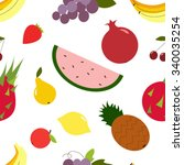 seamless fruit pattern for your ... | Shutterstock .eps vector #340035254