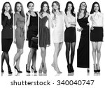 fashion collage. group of... | Shutterstock . vector #340040747