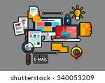 flat vector concept of e mail...