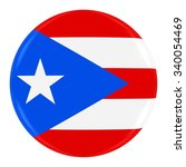 puerto rican flag badge   flag... | Shutterstock . vector #340054469