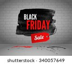 black friday banner with... | Shutterstock .eps vector #340057649
