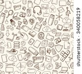 hand drawn computer icons set. | Shutterstock .eps vector #340058219