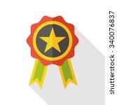 award medal flat icon   Shutterstock .eps vector #340076837