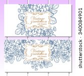 wedding invitation cards with... | Shutterstock .eps vector #340084901
