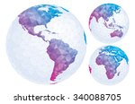 isolated geometric globe. | Shutterstock .eps vector #340088705