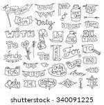 doodle calligraphic funny... | Shutterstock .eps vector #340091225